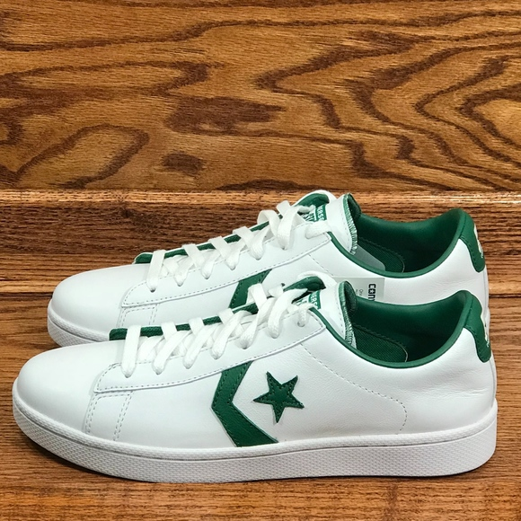 8b2f94ad73 Converse Pro Leather Ox White Green Shoes NWT